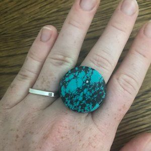 Anthropologie boho circle ring